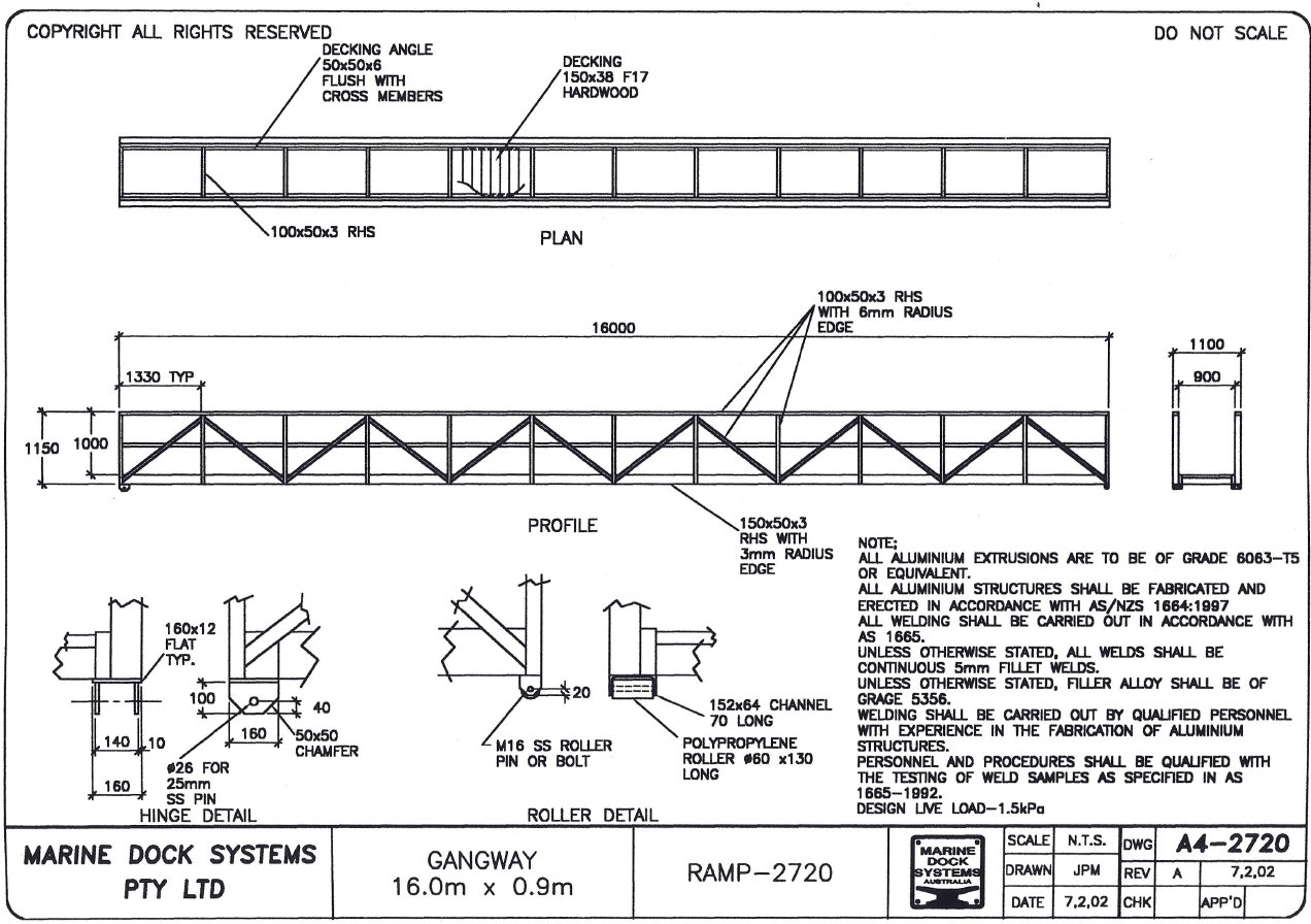 Ramps, Gangways and Walkways  Marine Dock Systems, MDS