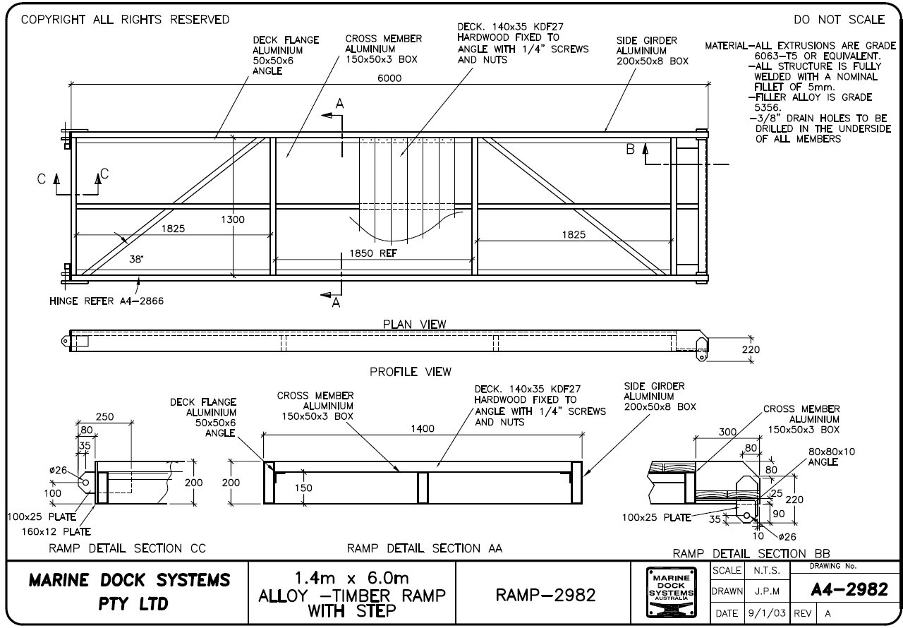 Ramps, Gangways and Walkways  Marine Dock Systems, MDS - Marinas
