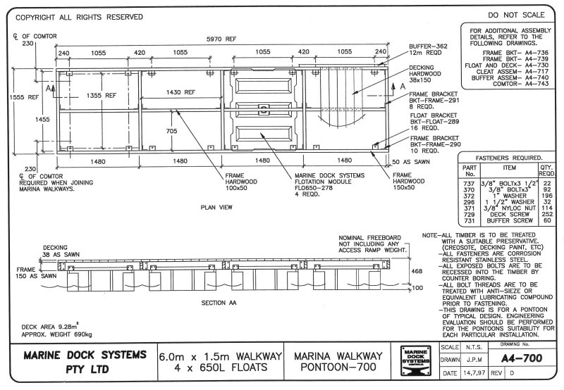 Residential Pontoons  Marine Dock Systems, MDS - Marinas