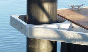 Pile Guides Marine Dock Systems Mds Marinas Pontoons